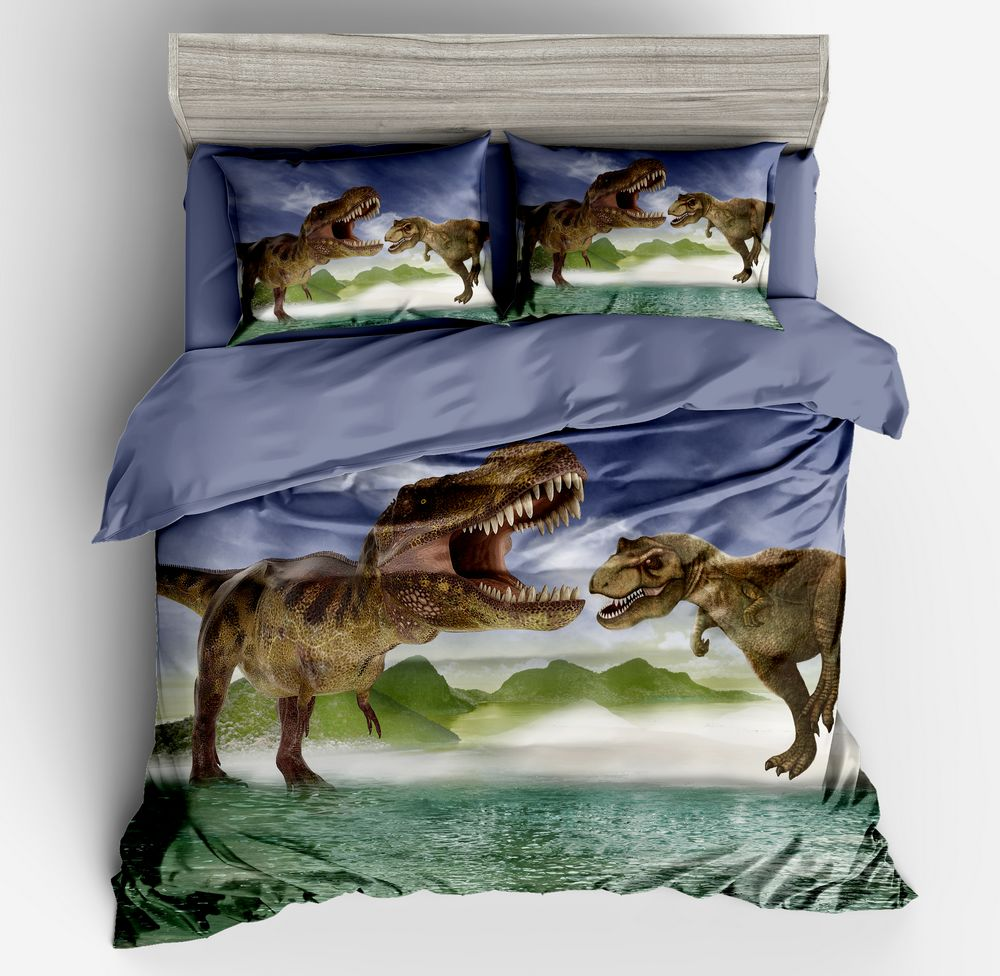 Dropshipping Bedding set 2/3pcs Twin Full Queen King size bed Duvet cover set   for girls and Boy gife DinosaurDropshipping Bedding set 2/3pcs Twin Full Queen King size bed Duvet cover set   for girls and Boy gife Dinosaur
