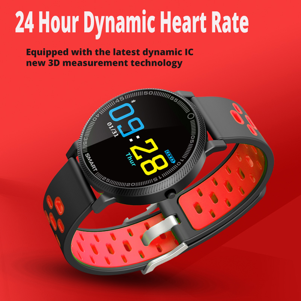 696 F4 Cercle Intelligent Horloge femmes Vibreur Fitness Tracker circulaire hommes femmes bande À Puce