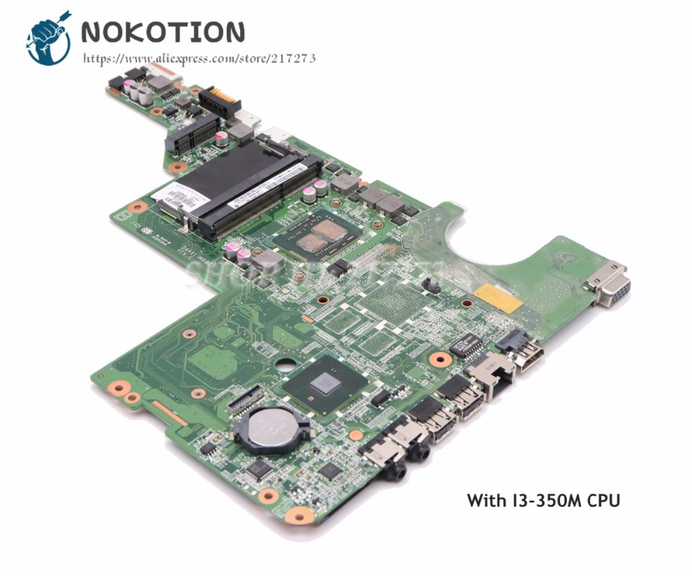 NOKOTION Laptop Motherboard For HP Compaq G62 CQ62 MAIN BOARD I3-350M CPU DDR3 634648-001 DAAX1JMB8C0