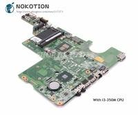 NOKOTION Laptop Motherboard For HP Compaq G62 CQ62 MAIN BOARD I3 350M CPU DDR3 634648 001 DAAX1JMB8C0