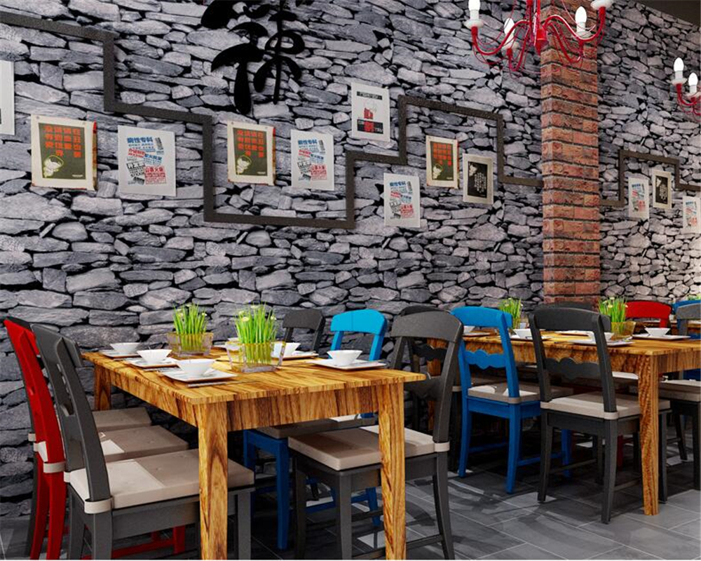 Beibehang Simulation Brick Stone Brick Restaurant Cafe Clubhouse Wallpaper Personality Waterproof Wallpaper roll papel de paredeBeibehang Simulation Brick Stone Brick Restaurant Cafe Clubhouse Wallpaper Personality Waterproof Wallpaper roll papel de parede