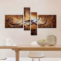 Mintura Art 4Pcs Hand Painted Abstract Oil Paintings On Canvas Modern Art Abstract Pictures For Living Room Home Decoration