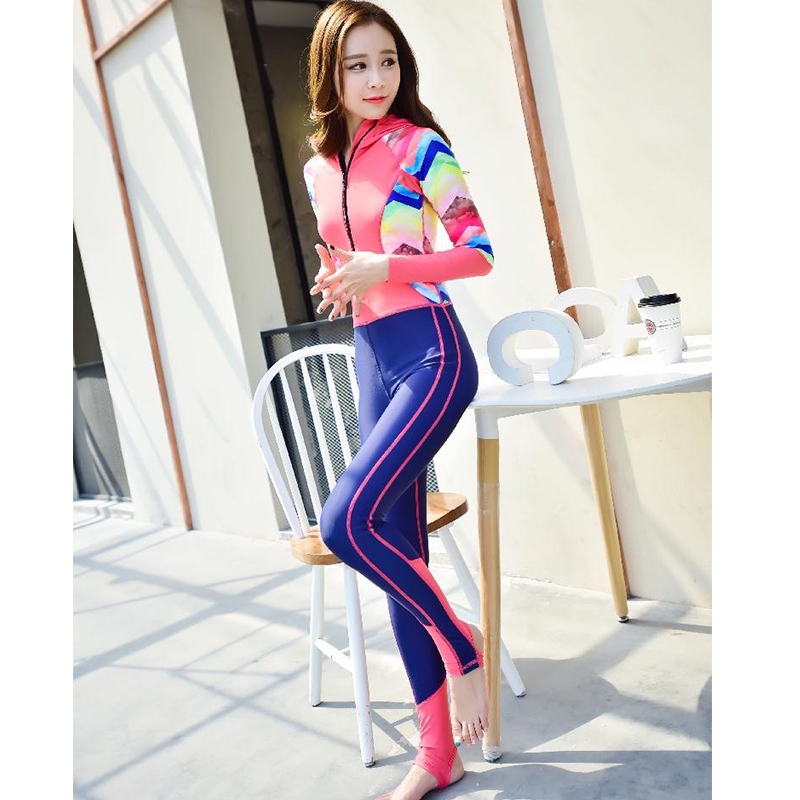 ФОТО 2016 Diving wetsuit quick dry suits for women one-piece swimming surfing wet suit swimsuit long sleeve,jumpsuit,full bodysuit