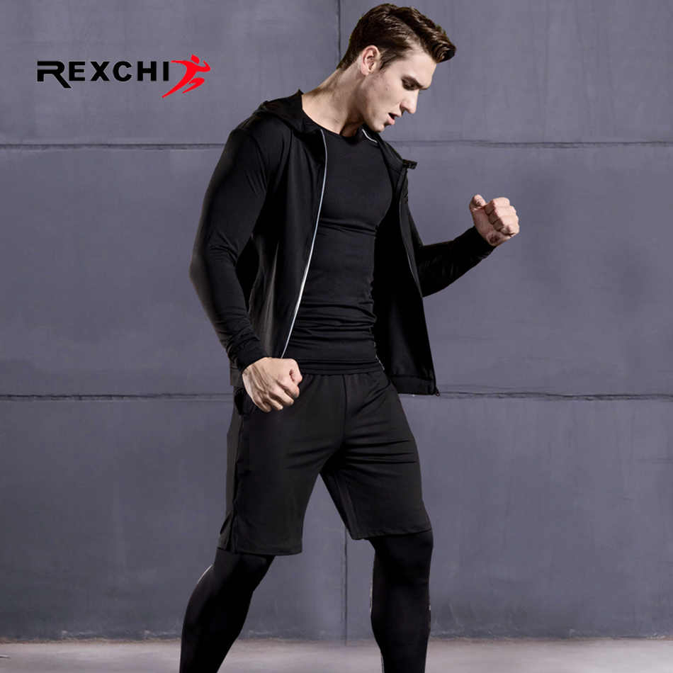 1bce960ca034 Men Sports Suit Compression Underwear Outdoor Running Jogging Clothes T  Shirt Pants Gym Fitness Training Workout Tights Costume