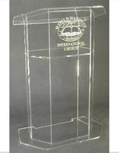 Acrylic Lectern/Lucite Chruch Podium/Transparent Pmma Pulpit Clear Lectern Clear Church Podium