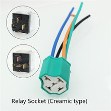 Ceramic Car relay holder,4pin 5 pins Auto socket  2.5mm2 cable connector plug