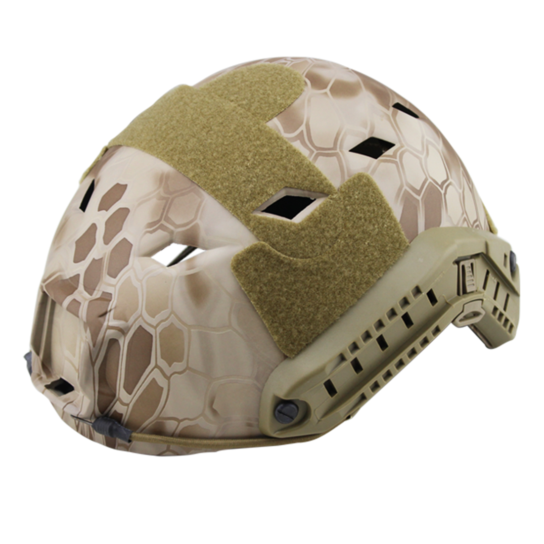 купить Surwish Camouflage Tactics Protective Helmet for FAST Pore-rhomb Helmet for Nerf/for Airsoft Outdoor Activity - CP по цене 3703.82 рублей