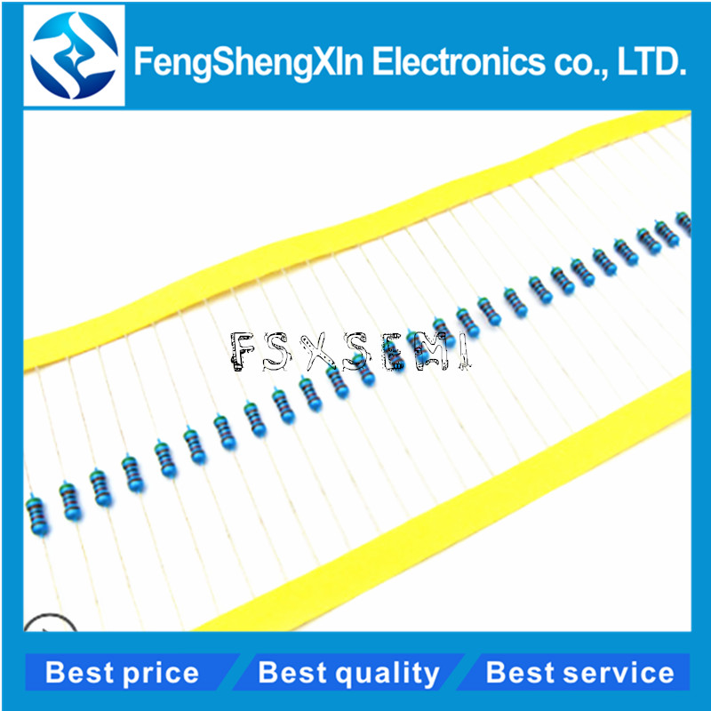100pcs/lot 1/4W 1% Metal Film Resistor 1R~1M 100R 220R 330R 1K 1.5K 2.2K 3.3K 4.7K 10K 22K 47K 100K 100 220 330 1K5 2K2 3K3 4K7(China)