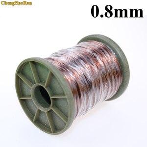 "Image 1 - ChengHaoRan 0.8 מ""מ, 1 m 1 מטר פוליאסטר אמייל חוטי נחושת, עגול נחושת חוט, QZ 2 130 QA 1 155"