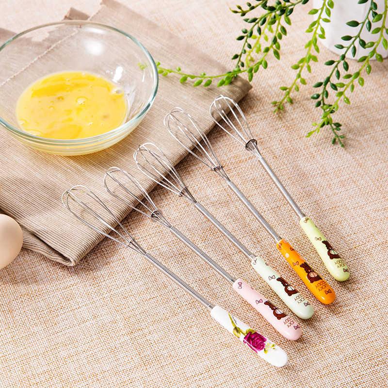 LUCOG Cerâmica Mini Hand Mixer para Cozinha Multifunções Em Aço Inoxidável Batedor de Ovos Manual Do Batedor de Creme de Manteiga de Leite de Alimentos Liquidificador