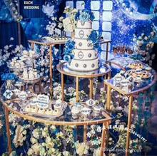 Wedding cylindrical dessert table wedding iron rack