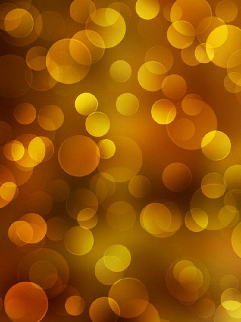 Shinning glitter bokeh printed photo studio backdrops Newborn baby yellow polka dot backdrop sparkle background XT-406