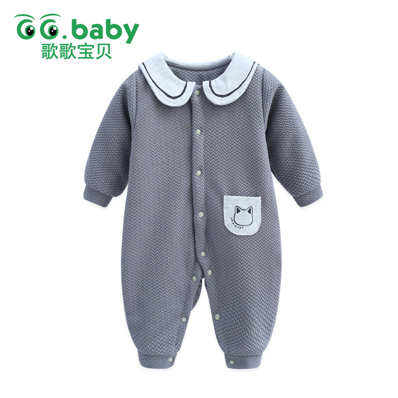 Infant Winter Baby Boys Clothes Overalls Romper For Baby Babies Newborn Girl Rompers Baby Clothing Snow Toddler Jumpsuit Pajamas 2017 new fashion cute rompers toddlers unisex baby clothes newborn baby overalls ropa bebes pajamas kids toddler clothes sr133