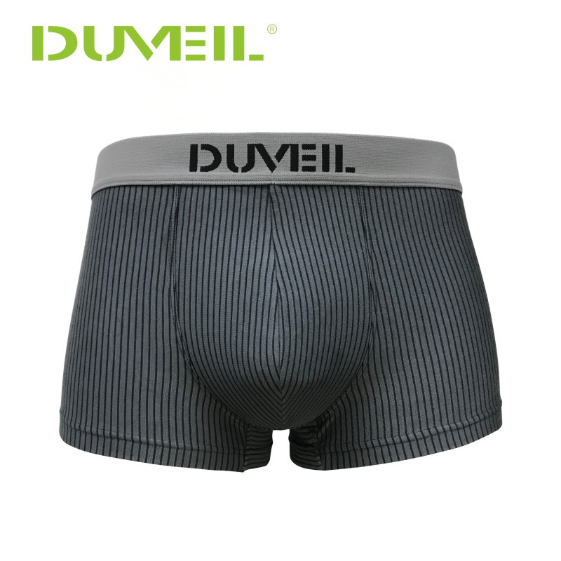 Men's Stripes Cotton Breathable Sports Underwear  Flexible Four Corners Underpants 3D Convex Soft Boxer Shorts For CEO