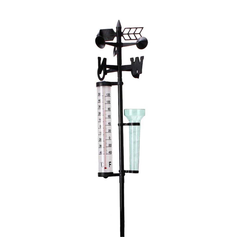 Rain Gauge Thermometers Wind Indicator Weather Station Meteorological Measurer Home Garden Outdoor Decoration