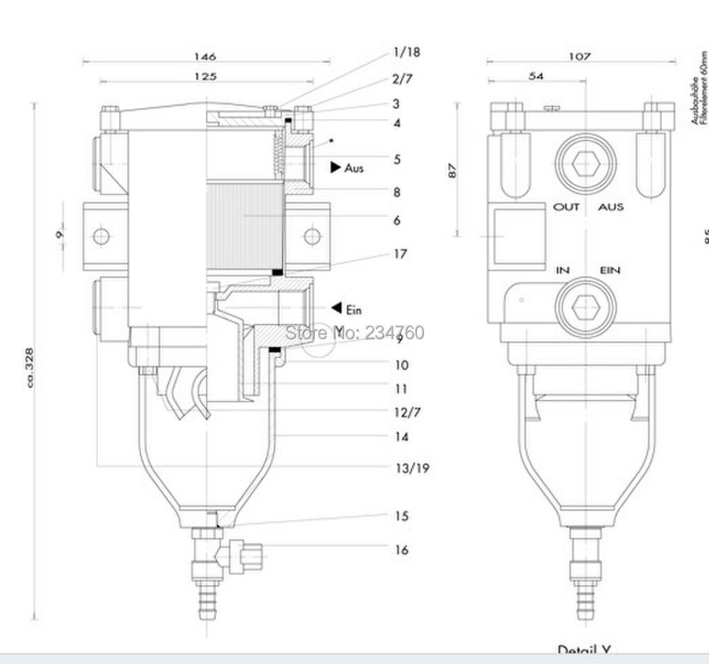 universal truck tractors separ swk2000 10 fuel water separator filter marine turbocharger diesel engine volvopenta element in fuel pumps from automobiles  [ 1000 x 937 Pixel ]