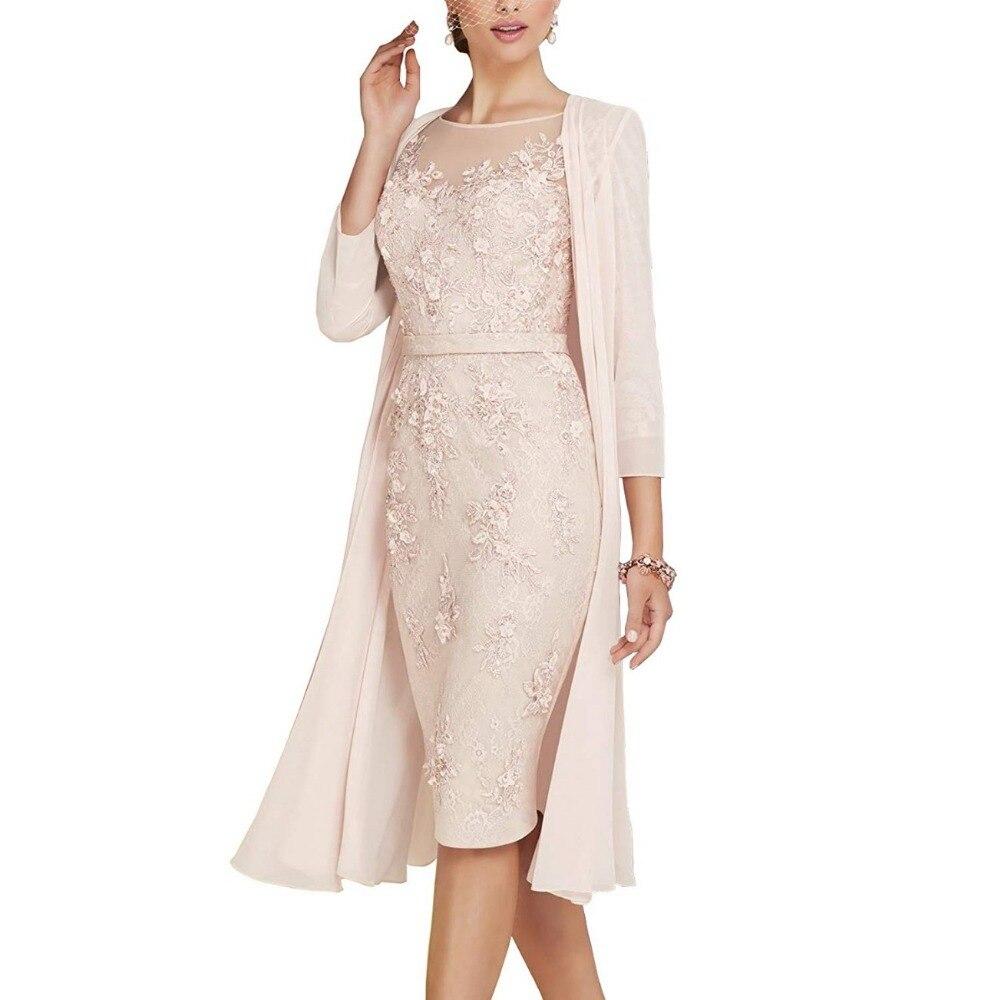 2019 à la main gaine mère de la mariée robes ceinture Appliques dentelle avec veste courte robes porter des robes de mariée de fiesta