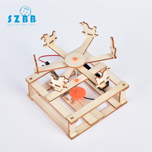 SZ STEAM DIY Electric Rotate Trojan Model Kits Kids Teaching Students Children Scientific Experiment Toys Educational Toy