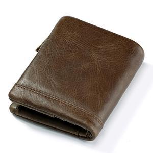 Image 5 - 2020 100% hakiki deri erkek cüzdan portföy erkek Cuzdan küçük Portomonee Perse bozuk para cüzdanı moda para çantası erkekler için