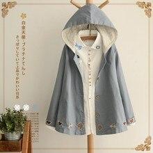 giacche donna denim harajuku chaqueta embroidery lace patchwork tunic longue femme casual loose hoodie women autumn jacket coat