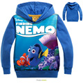 2016 children finding nemo clothing Boys/Girls Hoodies & Sweatshirts Terry Cotton Topwear Kids finding dory Outerwear (2-7Y)