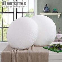 Telas no Tejidas Throw Pillow Ronda Interna Para Inserción de Cojín Relleno de Relleno de Almohadas Sofá Decorativo Decoración del Hogar Suave 3 Tamaños