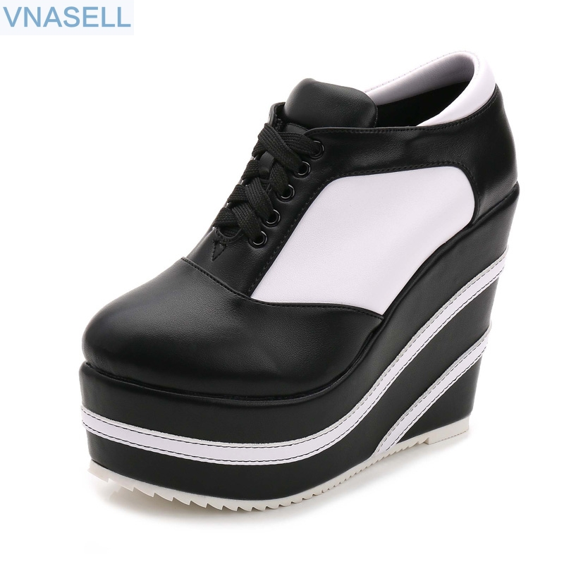2019 new black / white wedge  ultra high heel 10/12/15CM casual   winter college womens shoes platform   size30 31 32 332019 new black / white wedge  ultra high heel 10/12/15CM casual   winter college womens shoes platform   size30 31 32 33