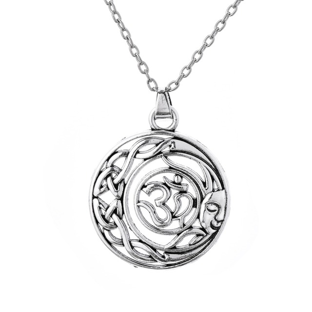 Mandala Ganesha Pendant Elephant Necklace Sun And Moon Online Shopping India Women Necklaces OM Yoga Indian jewelry