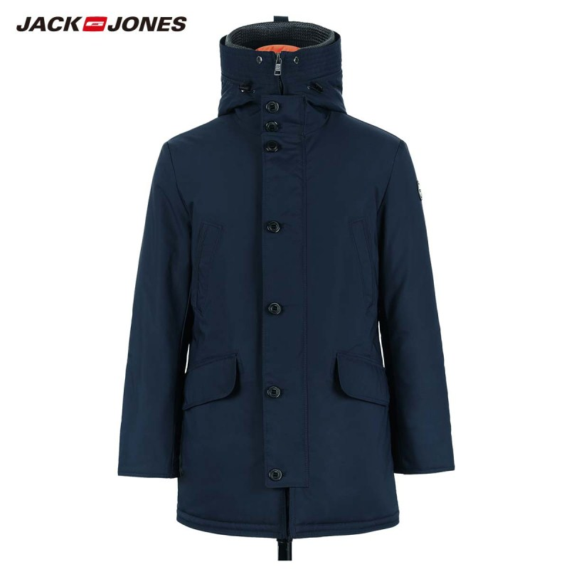 JackJones Men's Winter Hooded Parka Coat Long Jacket Luxury Overcoat 2019 New Menswear 218309511 5