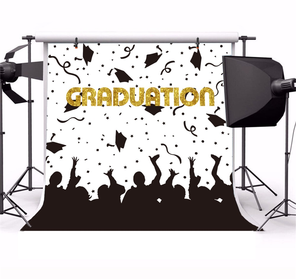 Laeacco Students Graduation Party Poster Fundaluri fotografice - Camera și fotografia - Fotografie 2