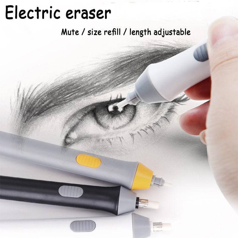 Tenwin  Electric Pencil Eraser Automatic Highlighter Cute/Kawaii Mini Art Electronic Sketching Drawing Rubber Operated Highlight
