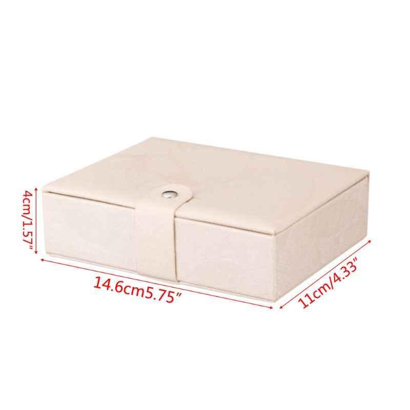 Чехол для ювелирных изделий из искусственной кожи высококачественный ящик для хранения Портативный Большой Органайзер с отделениями защита многофункциональные практичные чехлы