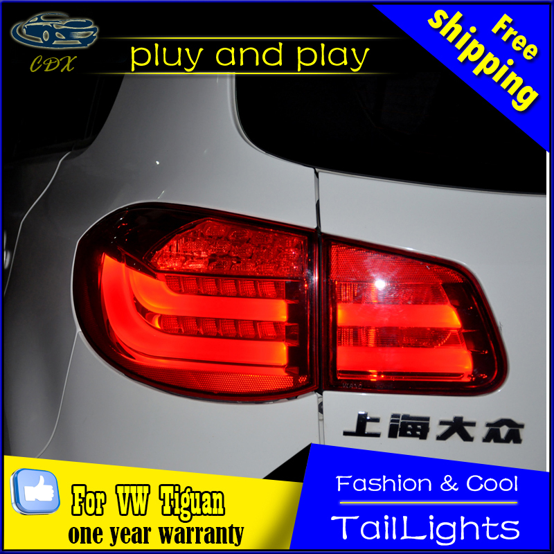 Car Styling Tail Lamp for VW Tiguan Tail Lights 2009-2012 Tiguan LED Tail Light Rear Lamp LED DRL+Brake+Park+Signal Stop Lamp car rear trunk security shield cargo cover for volkswagen vw tiguan 2016 2017 2018 high qualit black beige auto accessories