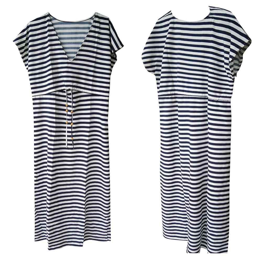 Удобные женские платья для отдыха в полоску, v-образный вырез, шнуровка на груди, платье с разрезом, длинное #4A26, тонкие летние женские платья без рукавов, Корректирующее белье