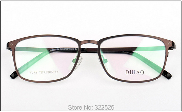 Wholesale high quality Women Men Pure Titanium big full rim eyeglasses frame pure titanium full rim frame men male eyeglasses titanium sunglasses frame