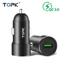 TOPK Quick Charge 3.0 Car Charger Adapter for iphone Samsung Huawei Xiaomi usb phone charger Fast charging car-charger