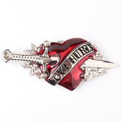 Красивые в форме сердца цветок сплава пряжка для ремня в западном стиле ковбойская пряжка для ремня