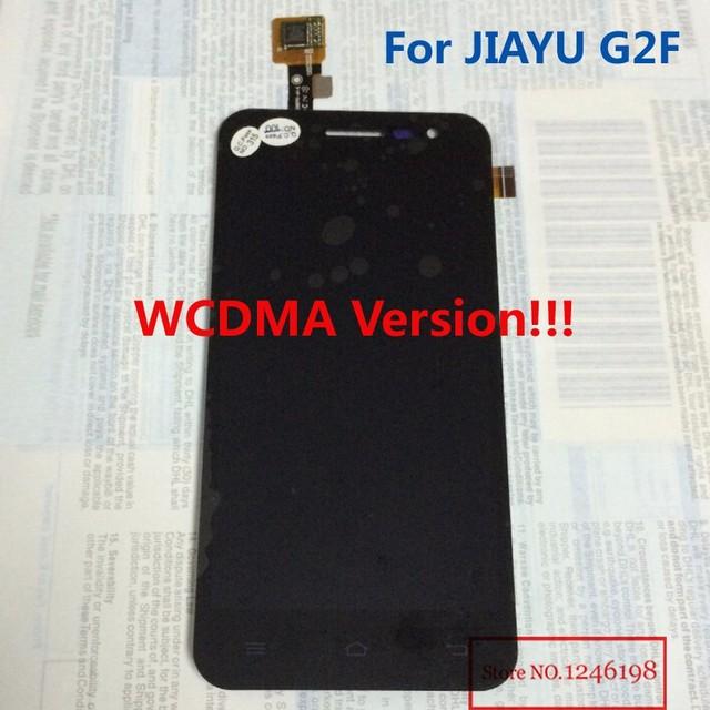 Wcdma sólo! venta al por mayor negro jy-g2f pantalla LCD montaje de la pantalla táctil para JIAYU G2F teléfono móvil piezas de repuesto