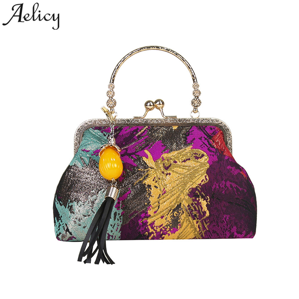 Aelicy Girls Shoulder Bag @@ National Style Embroidery Panelled Tassel Ladies handbag for women 2019 bolsa feminina drop shipAelicy Girls Shoulder Bag @@ National Style Embroidery Panelled Tassel Ladies handbag for women 2019 bolsa feminina drop ship