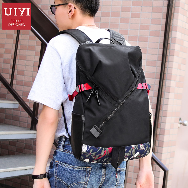 UIYI Tide brand fashion mens backpack wear waterproof cloth bag Personality backpack for men 14 inch laptop backpackUIYI Tide brand fashion mens backpack wear waterproof cloth bag Personality backpack for men 14 inch laptop backpack