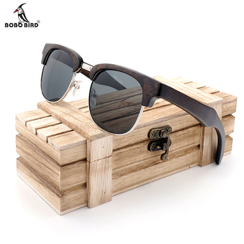 BOBO BIRD Sunglasses Women Men Polarized Retro Wood Sun Glasses UV400 Eyewear in Wood Box 1