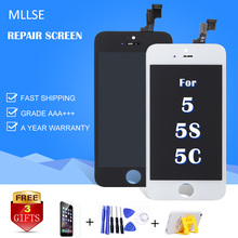 1 шт. AAA качество ЖК-Дисплей Для iPhone 5 5c 5S модуль с сенсорным экраном digitizer замена стекла клон телефон жк-экран ремонт