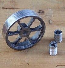 цена на 1set  355 belt-type profile cutting machine accessories belt Aluminum pulley wheel size electric tool