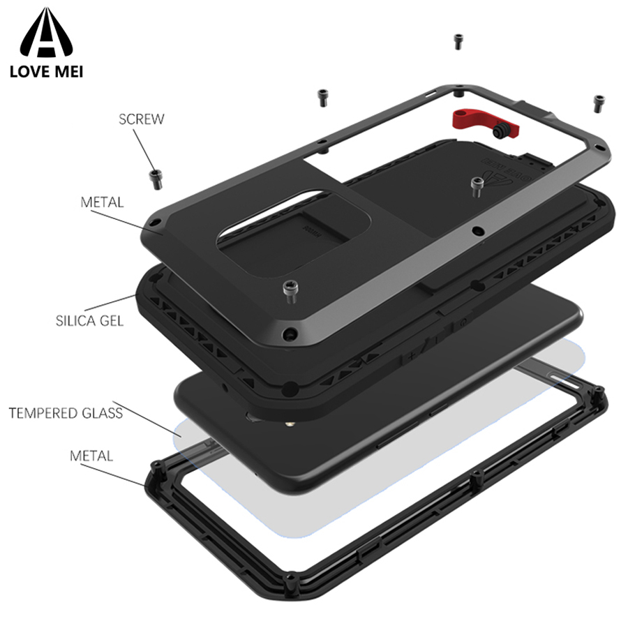 Love Mei Armor Case For Huawei Mate 20 Lite Shockproof Case For Huawei Mate20 Lite Metal Waterproof Cover For Huawei Maimang 7Love Mei Armor Case For Huawei Mate 20 Lite Shockproof Case For Huawei Mate20 Lite Metal Waterproof Cover For Huawei Maimang 7