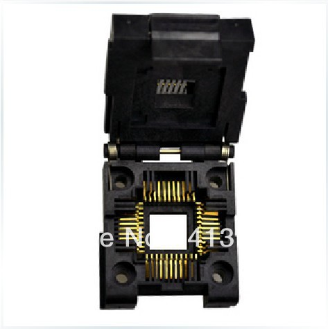 YAMAICHI original IC PLCC44/IC51-0444-400 test socket adapter burn free shipping sop32 wide body test seat ots 32 1 27 16 soic32 burn block programming block adapter