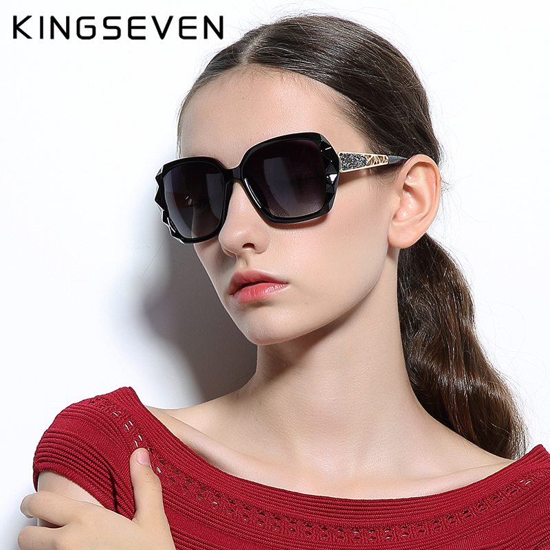 KINGSEVEN Sunglasses Women Gradient Polarized Diamond Frame Sun Glasses For Driving Luxury Lady Shades Eyewear Accessories 7538