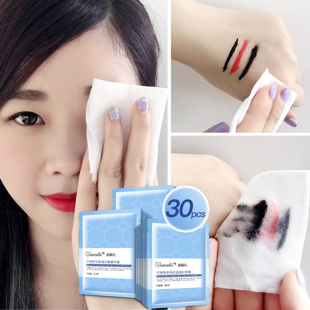 1pc Protable Deep Ocean Cotton Makeup Remover Wipes Facial Make Up Remove Patch Wet Towel Cleanser Deep Cleansing Pads 1