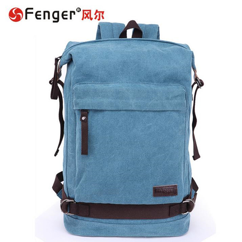 ФОТО New Arrive Male canvas backpack large capacity double shoulder bag Leisure travel bag Female school bag couro bolsa
