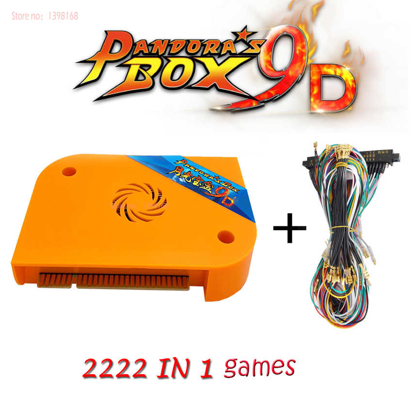 2222 in 1 Pandora Box 9d arcade version jamma game board Pandora's Box 9  hdmi vga For arcade machine arcade cabinet pac man