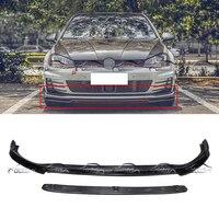 Front Lip For Volkswagen Golf MK7 GT&I Facelift R Style Carbon Fiber Bumper Spoiler2Pcs